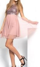 Haljina za maturu srebrno roze