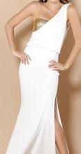 Belo-zlatna duga haljina