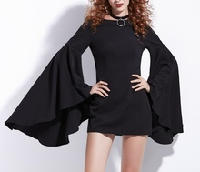 Crna dnevna haljina jesen - zima