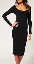 Crna haljina  sa dugim rukavima