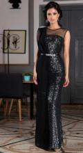 Crna svecana dugacka haljina