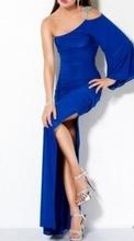 Duga plava haljina sa slicem