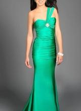 Duga zelena haljina