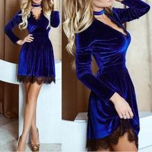Plis haljina sa detaljima crne cipkice