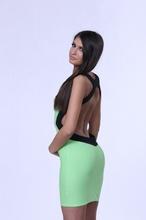 Zeleno crna haljina 36/38
