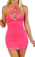 Roze haljina sa cirkonima