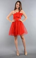 Haljina za maturu crvena sa masnom