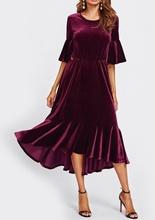 Bordo plis haljina sa karnerima