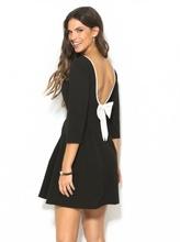 Crna haljina sa belom masnom
