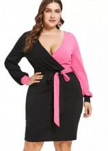 Crno roze haljina za punije žene