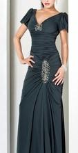 Siva duga maturska haljina