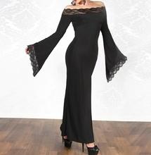 Duga haljina sa cipkicom na krajevima
