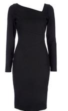 Crna haljina sa neobicnim kosim izrezom