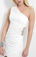 Bela haljina sa cirkoncicima