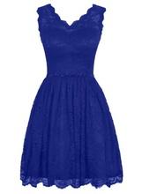 Cipkasta kraljevsko plava haljina sa cirkonima