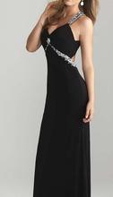 Crna duga maturska haljina