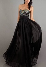 Duga haljina od muslina i sarenih cirkona