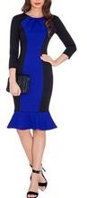 Haljina sa karnerom plavo crna