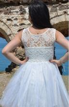 Haljina za maturu belo bela sa cipkom