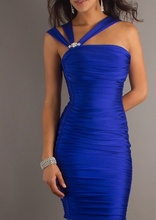 Kraljevsko plava haljina na bretele