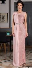 Puder roze haljina sa muslinom