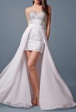 Bela haljina sa muslinom i rasutim cirkonima