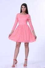 Čipkasta haljina boje kajsije za maturu