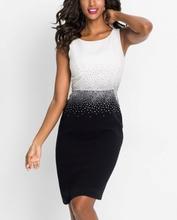Svecana haljina crno bela sa cirkonima