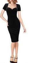 Crna haljina na preklop sa cirkoncicima