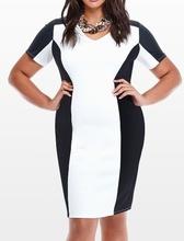 Crno bela haljina za punije dame