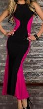 Crno ciklama duga haljina