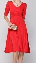 Dnevna crvenka haljina