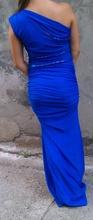 Duga kraljevsko plava haljina