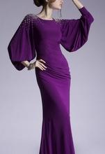Ljubicasta duga maturska haljina