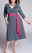 Siva haljina za punije dame