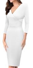Bela haljina sa preklopom