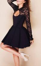 Cipkasta haljina sa kragnom od cirkona