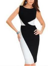 Crno bela haljina sa trouglicima