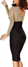 Crno zlatna haljina