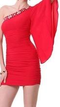 Crvena haljina sa cirkonima