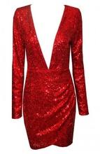 Crvena haljina sa sljokicama