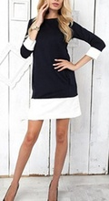 Dnevna haljina plava sa belim mazetnama
