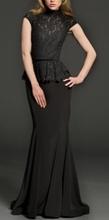 Duga crna haljina sa karnerom