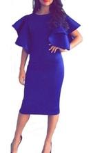 Kraljevsko plava haljina sa karner rukavima