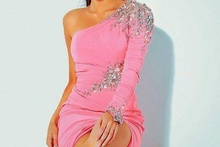 Roze haljinica sa cirkonima