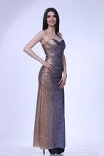 Svecana duga haljina zlatkasto plava