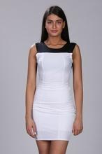 Crna bela neobicna haljina