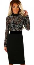 Crna haljina sa bez crnom cipkom