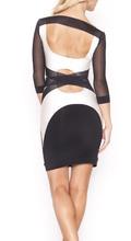 Crno bela haljina golih ledja