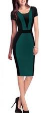Crno zelena dnevna haljina